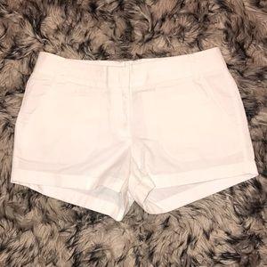 NWOT J Crew White Chino Shorts
